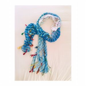 [free people] tie dye printed scarf